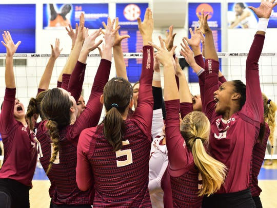 The Florida State women's volleyball team reached the Sweet Sixteen with an exciting victory over Florida in December.