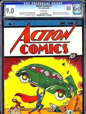 "A pristine copy of Superman's first appearance in ""Action Comics"" No. 1 sold for $3.21 million in an eBay auction."