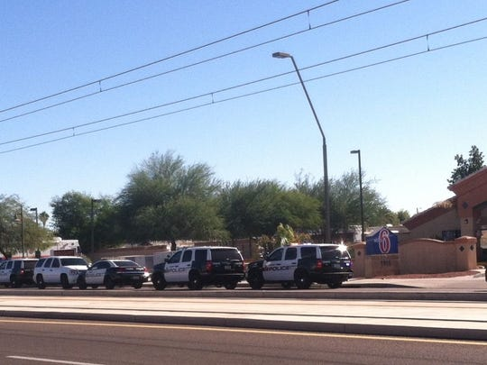 The scene of an officer-involved in Tempe.