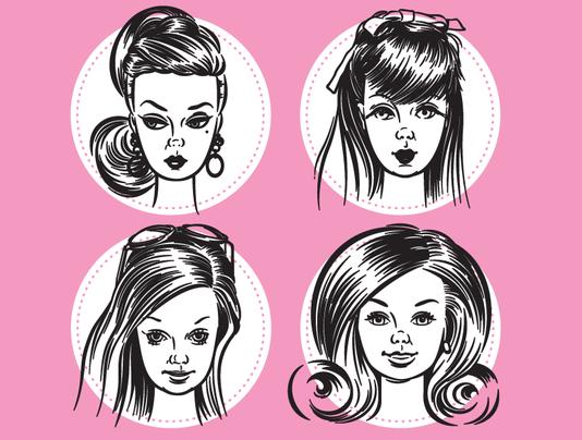 Faces of Barbie promo art