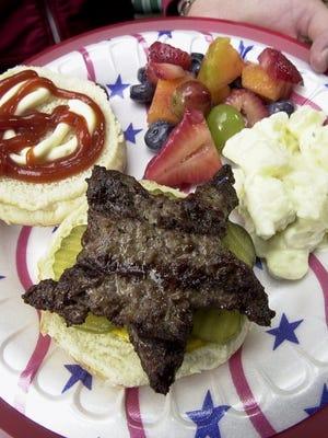 Star-shaped hamburger patties won't be long forgotten at Fourth of July parties.