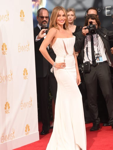 Actress Sofia Vergara attends the 66th Annual Primetime Emmy Awards held at Nokia Theatre L.A. Live on August 25, 2014 in Los Angeles, California.  (Photo by Jason Merritt/Getty Images)