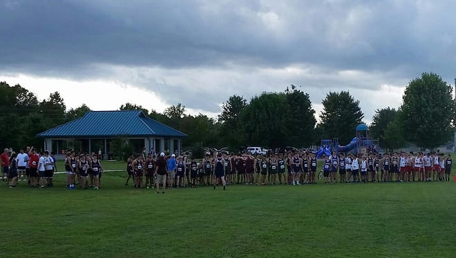 Veritas Christian Academy hosted an invitational cross country meet on Tuesday in Fletcher.