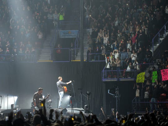 Country star Eric Church plays for a packed house Nov.