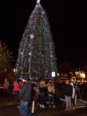 Silverton's Town Square Park was filled with people attending the city's annual Christmas tree lighting ceremony on Friday Dec. 2, 2016.
