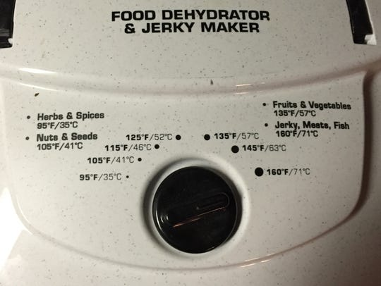 The dehydrator used in the recipe that was given as