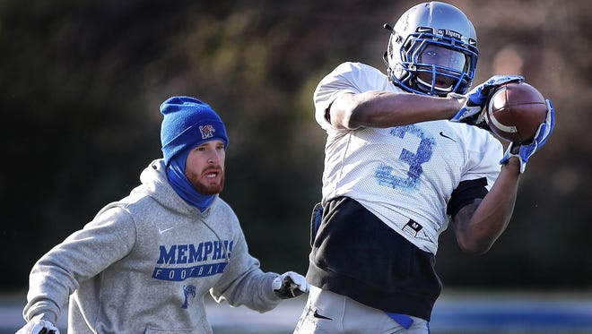 Memphis receiver Anthony Miller will not play in the Senior Bowl.