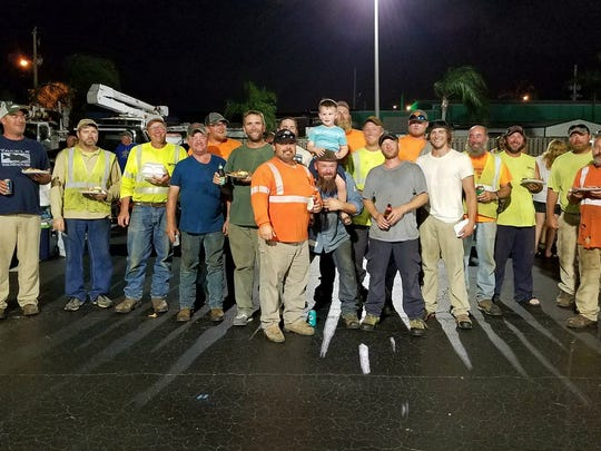 Out-of-state lineman who came to help restore power