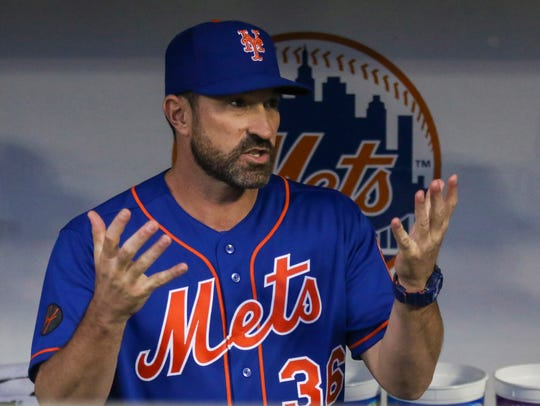 New York Mets manager Mickey Callaway (36) prior to