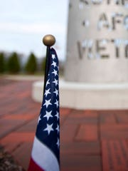 The Veteran's Memorial in South Burlington on Monday.