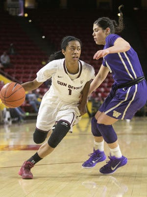 Junior guard Arnecia Hawkins is one of the core players coming off the bench for No. 11 ASU women's basketball.