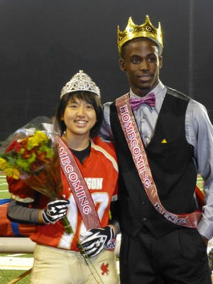 Edison High School football player Cynthia Cheng was crowned Homecoming Queen in 2012.