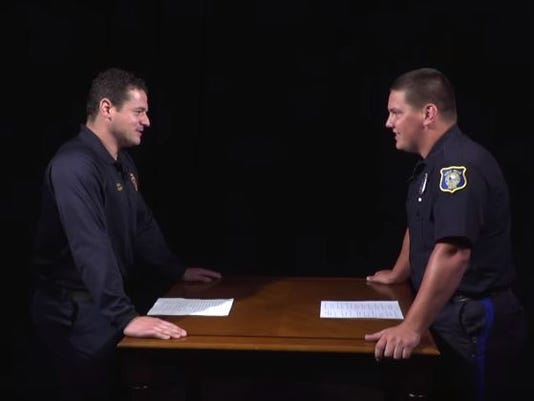 Police and fire face off in dad joke contest