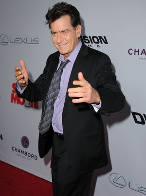 Charlie Sheen on April 11, 2013 in Hollywood.