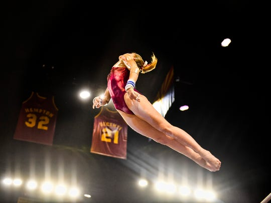 ASU junior gymnast Anne Kuhm competed for France at