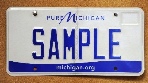 A Michigan license plate
