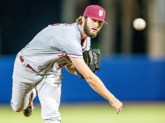 Jim Voyles saw regular action for FSU in 2015 pitching in 27.1 innings. He registered an ERA of 2.63, striking out 27 batters.
