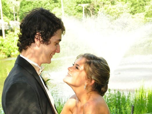 Lyndsay Lawler and Andrew Muller at the Parsippany Hills High School prom.<o:p></o:p>