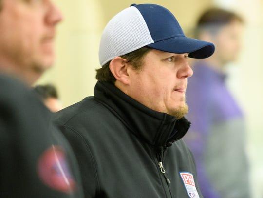 Pinnacle's head coach Glenn Karlson during their championship