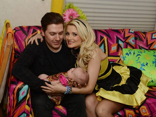 Model Holly Madison and hubby Pasquale Rotella pose