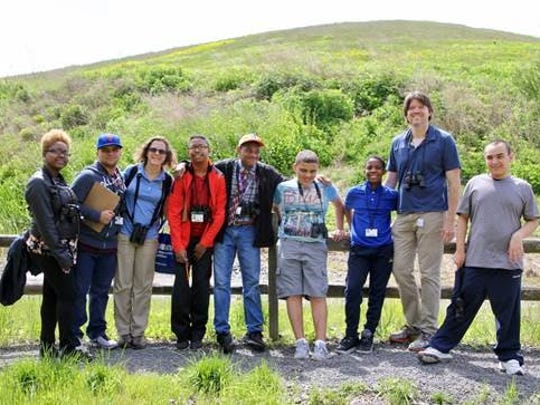 Adam, 14, and a dozen classmates joined New Jersey Audubon to explore Linden's Hawk Rise Sanctuary, a 95-acre environmental refuge on Range Road that hosts a number of class trips from the city throughout the year.