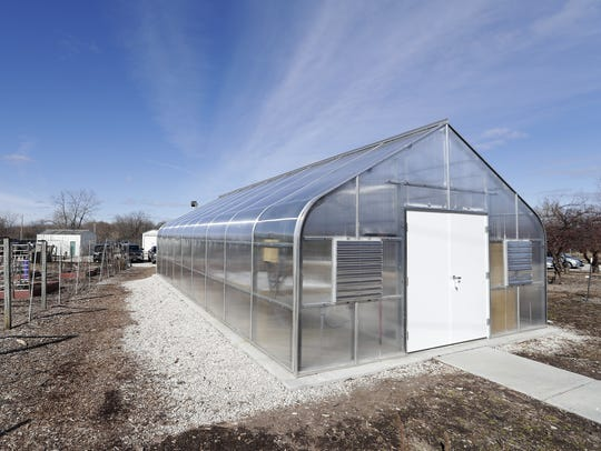 A greenhouse  at the Brown County UW-Extension.