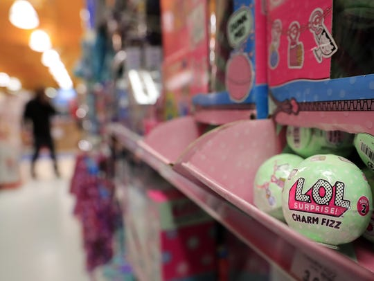 L.O.L Surprise! Charm Fizz balls are shown at Toys