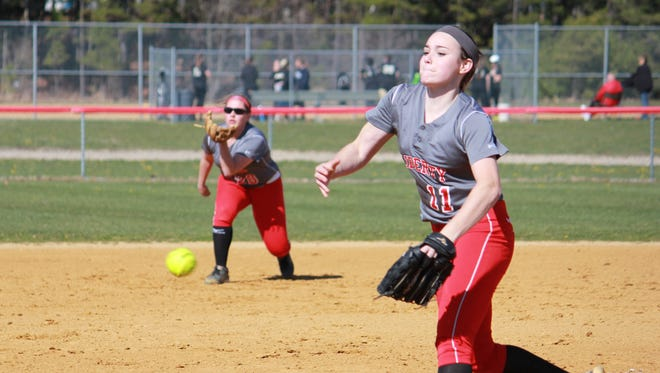Meghan Conroy struck out 12 in a 7-1 victory over Point Boro on Wednesday.