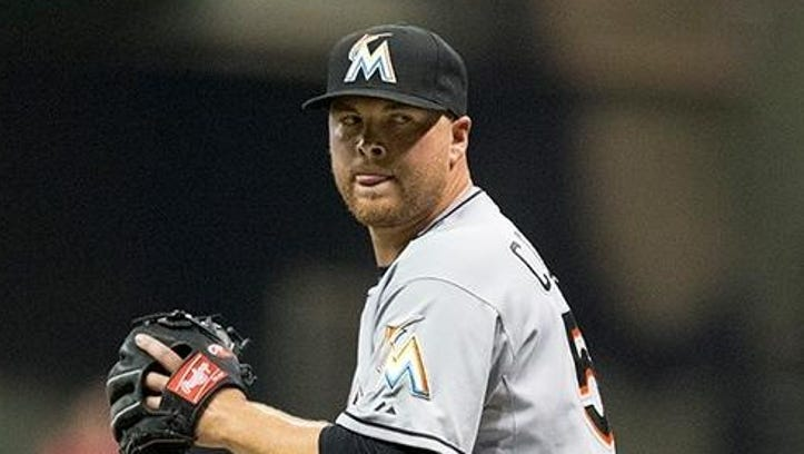 Relief pitcher Erik Cordier, pictured in his Miami