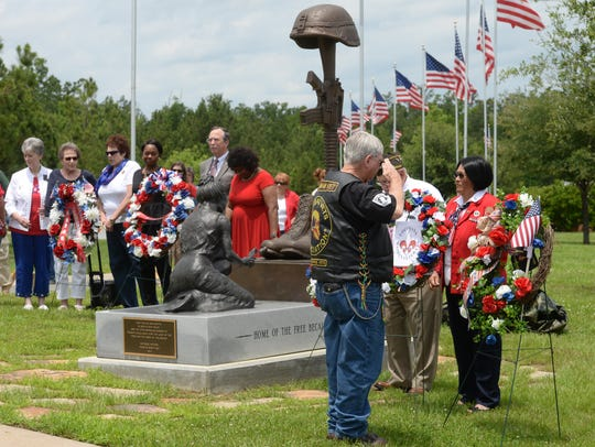 Images from the memorial day service at the Northwest