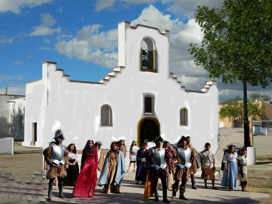 The First Thanksgiving celebration will take place Sunday in front of the Socorro Mission.