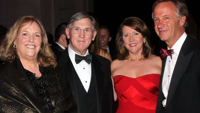 From left, Debbie and judge Bill Koch and Crissy and Gov. Bill Haslam.