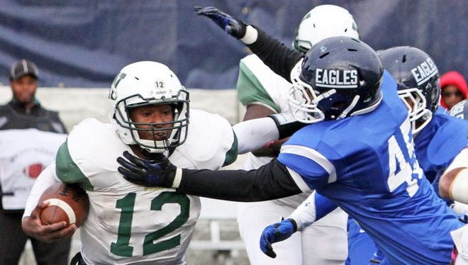 Woodlands quarterback Amari Bilal, pictured during the 2015 Class C championship game vs. Dobbs Ferry, was named first-team all-state in Class C.