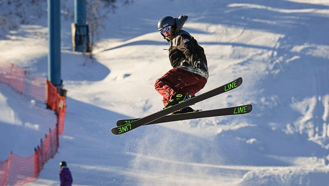 Skiers and snowboarders show their best moves during the Tow Up Throw Down competition Saturday, Jan. 13, at Powder Ridge Winter Recreation Area in Kimball.