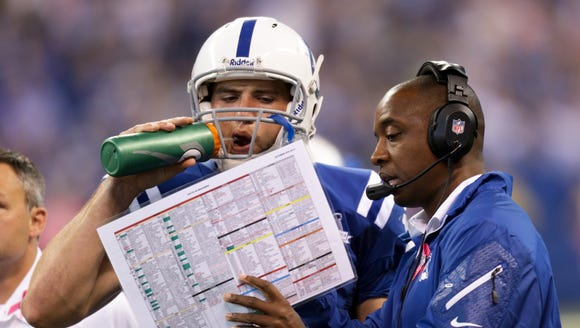 Behind offensive coordinator Pep Hamilton, the Colts