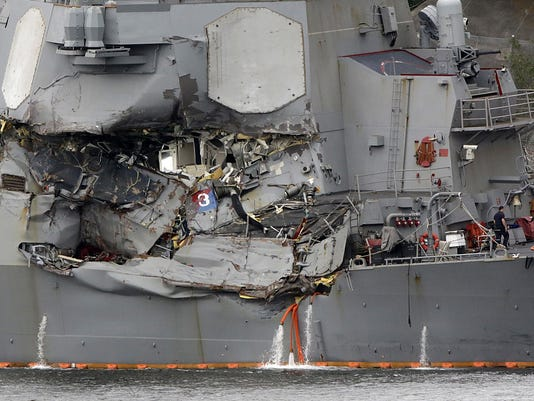 Japan US Navy Collision Photo Gallery