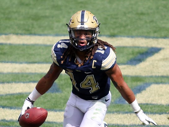 Pittsburgh Panthers defensive back Avonte Maddox (14)