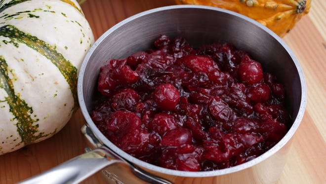 The orange cranberry sauce by Chef Patrick Fegan of Tavern Americana as seen in Scottsdale on Nov.7, 2014.