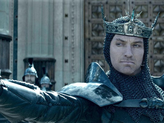 "Jude Law in ""King Arthur: Legend of the Sword."""