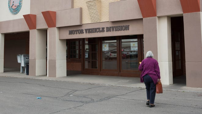 New Mexico motorists must bring identification and residency paperwork when renewing or applying for a driver's license or ID at one of the state's Motor Vehicle Division offices, such as this one at 505 S. Main St., in Las Cruces. The new process ensures the state and its residents are in compliance with the Real ID Act. March 3, 2017.