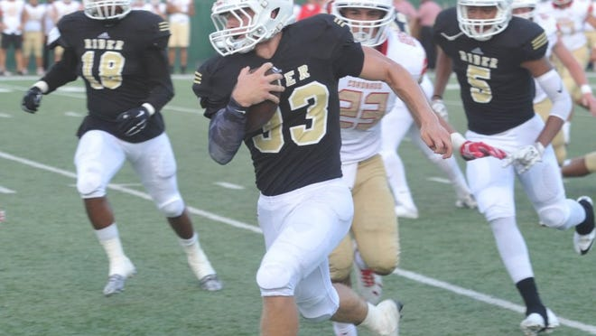 Rider senior Bryce Hughes was named honorable mention all-state after leading the Raiders with 132 tackles.