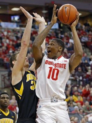 David Bell, shown playing for Ohio State as a freshman in February 2016, is preparing for a professional basketball career in Greece after finding success as a transfer at Jacksonville University.