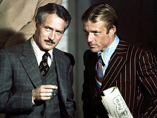 "Paul Newman (left) and Robert Redford star in ""The"
