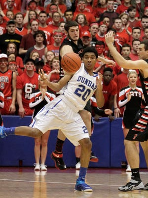 DeVon Baker (20), shown during his sophomore year at Dunbar High in Dayton, Ohio, has signed with UNC Asheville, according to a university news release.