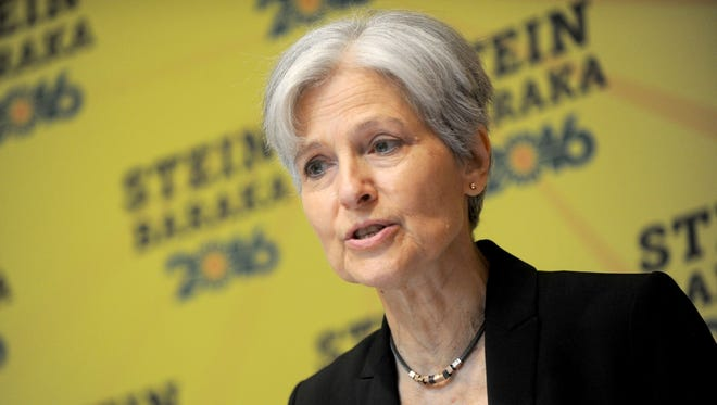 Green Party presidential candidate Jill Stein on Aug. 19, 2016 at the Holiday Inn Lower East Side, in New York City, N.Y. Stein has said she is pursuing a presidential recount in Michigan because of the number of blank ballots in Michigan's presidential election results. (Dennis Van Tine/Abaca Press/TNS)