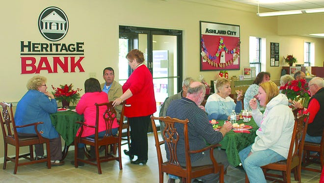 Heritage Bank in Ashland City hosts its Christmas open house.
