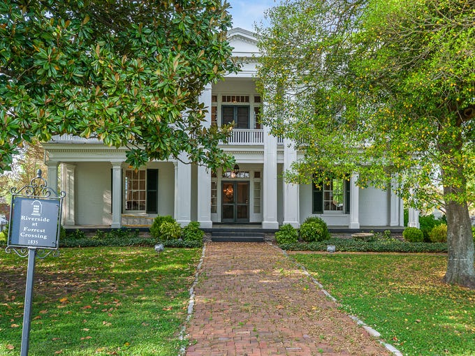 The exterior of a historic home for sale in Williamson
