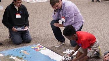 Students from Louisiana and Arkansas put their robots through the motions during the inaugural Northeast Louisiana Regional Autonomous Robotics Circuit.