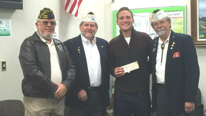 "Ramsey Draskovich was awarded $100 by the VFW for his ""Voice of Democracy"" speech."
