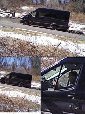 State Park Police are looking for information on a man with a van in connection with the theft of a sign for Donald J. Trump State Park in Westchester.